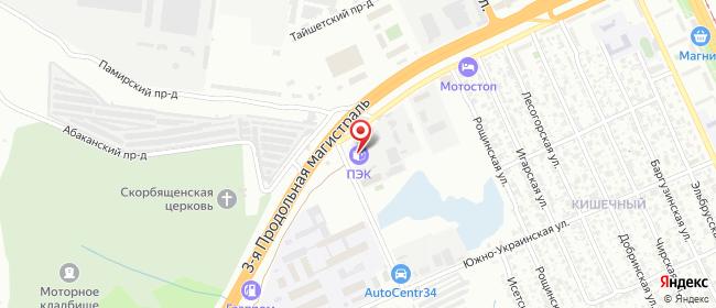 Карта расположения пункта доставки Волгоград в городе Волгоград