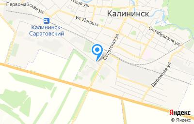Местоположение на карте пункта техосмотра по адресу Саратовская обл, г Калининск, ул Советская, д 54/1А