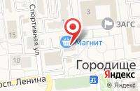Схема проезда до компании Comepay в Городище