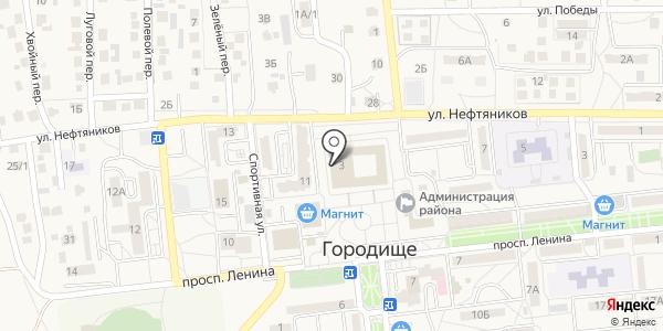 Центр детского творчества Городищенского района. Схема проезда в Городище