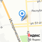 Дзержинский центр социального обслуживания населения на карте Волгограда