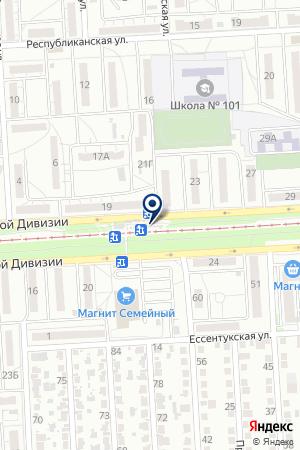 Продуктовый магазин на ул. 51 Гвардейской Дивизии на карте Волгограда