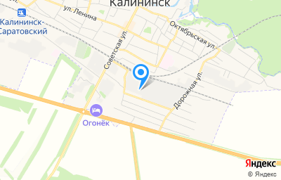 Местоположение на карте пункта техосмотра по адресу Саратовская обл, г Калининск, ул 50 лет Октября, д 30Б