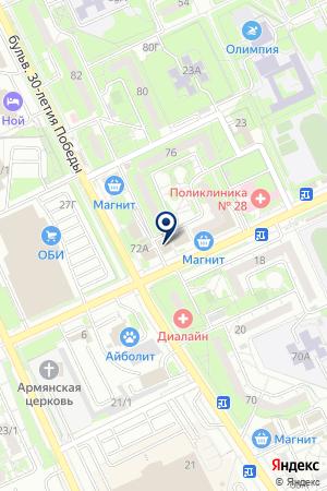 Сыск на карте Волгограда
