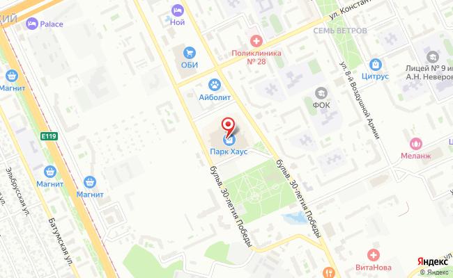 Карта расположения пункта доставки ULMARTSTORE в городе Волгоград