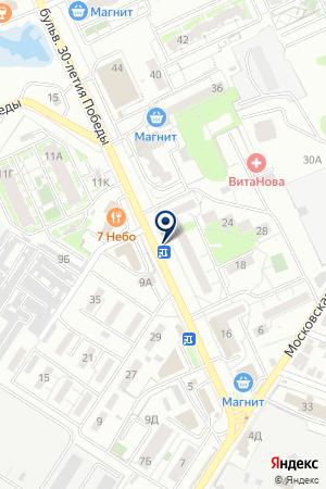 Продуктовый магазин на бульваре 30 лет Победы на карте Волгограда