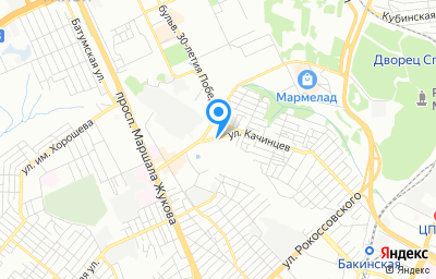 Местоположение на карте пункта техосмотра по адресу г Волгоград, ул Качинцев, д 77Б