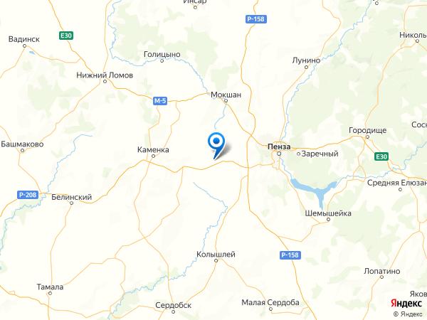 село Ермоловка на карте