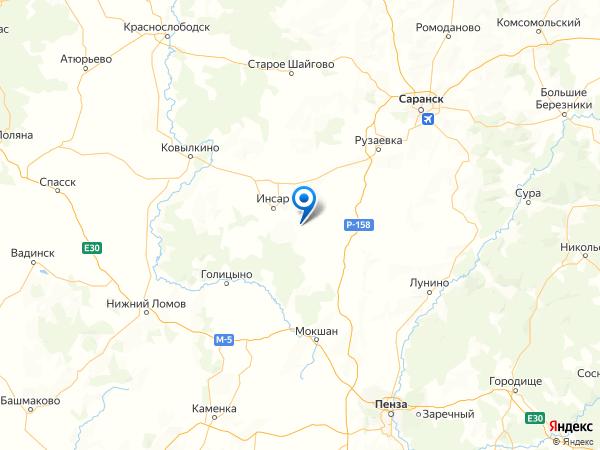село Сиалеевская Пятина на карте