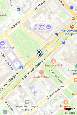 Удачный дом на карте Волгограда