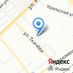 Ткачевский рынок на карте Волгограда