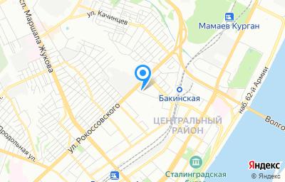 Местоположение на карте пункта техосмотра по адресу г Волгоград, ул Хиросимы, д 15Д