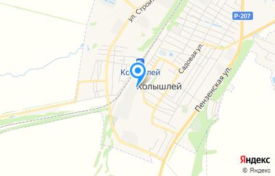 Местоположение на карте пункта техосмотра по адресу Пензенская обл, рп Колышлей, ул Советская, д 1А