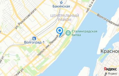 Местоположение на карте пункта техосмотра по адресу г Волгоград, пр-кт им В.И.Ленина, д 28