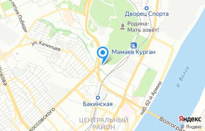 Местоположение на карте пункта техосмотра по адресу г Волгоград, ул им Рокоссовского, д 72А