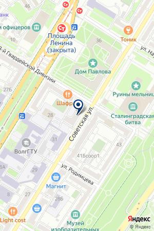 АПТЕКА ДСС-ФАРМ У ПАНОРАМЫ на карте Волгограда