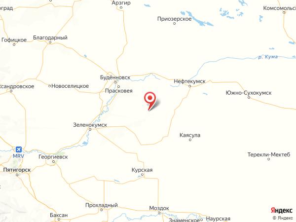 поселок Терский на карте