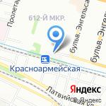 Сарпа на карте Волгограда