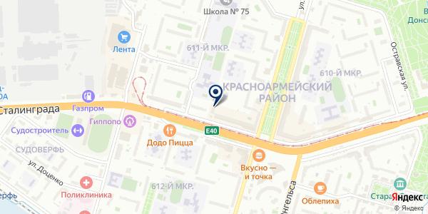 ТИС на карте Волгограде