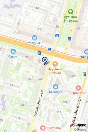 Продуктовый магазин на проспекте Героев Сталинграда на карте Волгограда