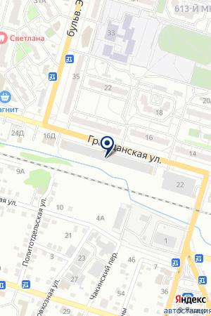 Шиномонтажная мастерская на Гражданской на карте Волгограда