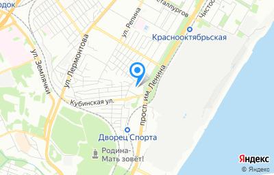 Местоположение на карте пункта техосмотра по адресу г Волгоград, пр-кт им В.И.Ленина, д 69А