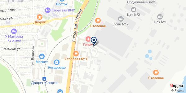 Транспортная компания на карте Волгограде
