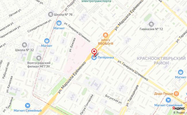 Карта расположения пункта доставки Халва в городе Волгоград