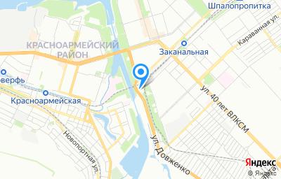 Местоположение на карте пункта техосмотра по адресу г Волгоград, ул Удмуртская, д 97Д