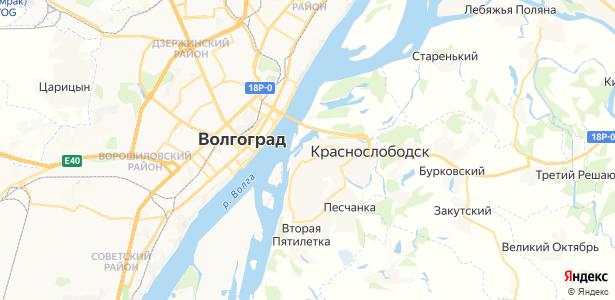 Краснослободск на карте