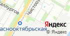 Шиномонтаж на Красном на карте