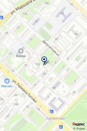 Продуктовый магазин на Депутатской на карте Волгограда