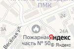 Схема проезда до компании Пожарная часть №50 в Краснослободске