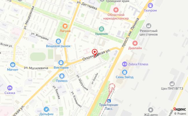 Карта расположения пункта доставки Lamoda/Pick-up в городе Волгоград