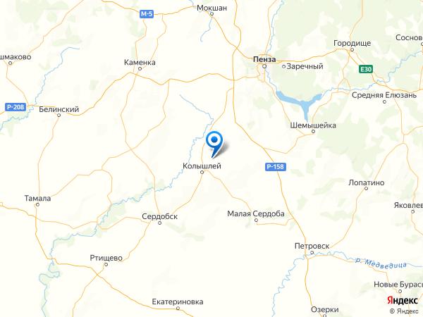 поселок при станции Скрябино на карте