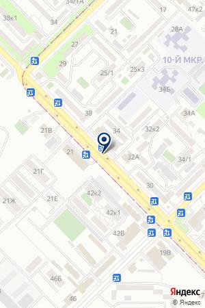 АЗС ЭНЕРГИЯ на карте Владикавказа