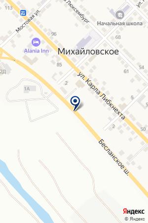 АЗС ЯГУАР на карте Владикавказа