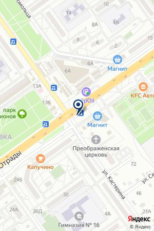 Продуктовый магазин на ул. Николая Отрады на карте Волгограда