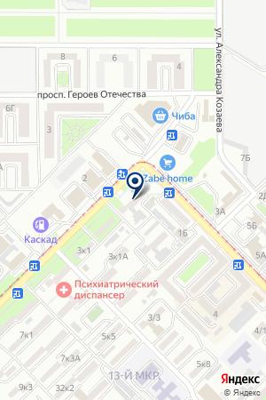 АВТОСАЛОН КОСМОС-2000 на карте Владикавказа