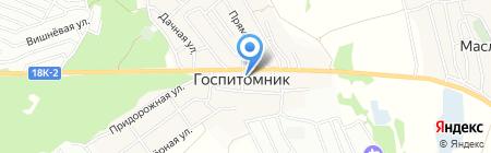 Продуктовый магазин в Школьном переулке на карте Госпитомника