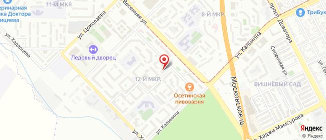 Карта расположения пункта доставки СИТИЛИНК в городе Владикавказ