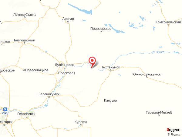 село Правокумское на карте
