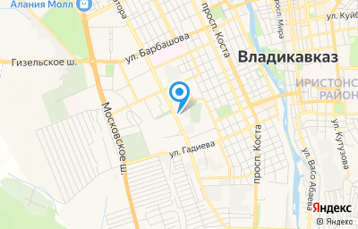 Местоположение на карте пункта техосмотра по адресу г Владикавказ, пр-кт Доватора, д 10, кв 10А