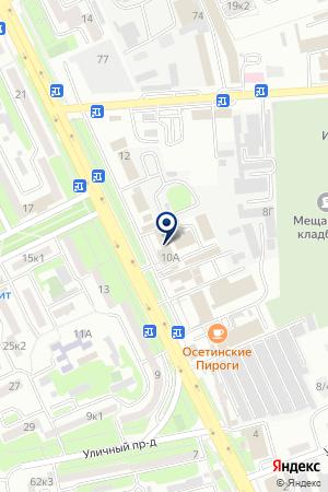 АВТОСАЛОН ДАКАР на карте Владикавказа