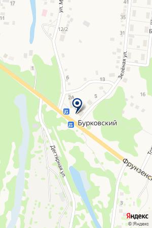 Шоссе на карте Бурковского