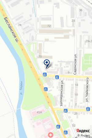 АВТОРЕМОНТНОЕ ПРЕДПРИЯТИЕ на карте Владикавказа