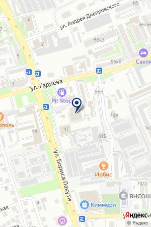 АВТОСАЛОН ВЛАДИКАВКАЗ-ЛАДА на карте Владикавказа