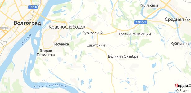 Закутский на карте