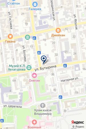 АВТОШКОЛА ВСЕРОССИЙСКОЕ ОБЩЕСТВО АВТОМОБИЛИСТОВ на карте Владикавказа