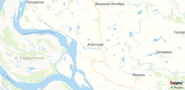 Клетский на карте